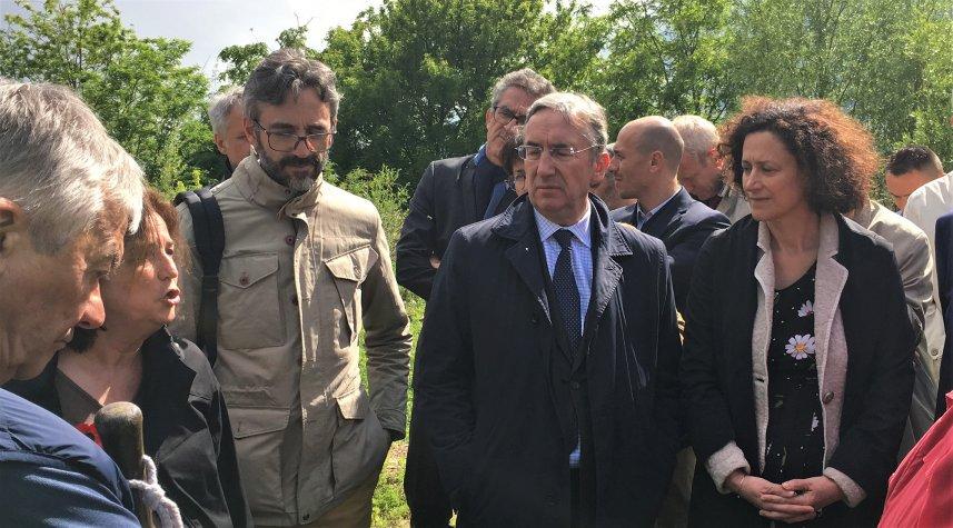 Carrière de l'ouest : visite de la secrétaire d'État auprès du ministre d'Etat de la transition écologique et solidaire.