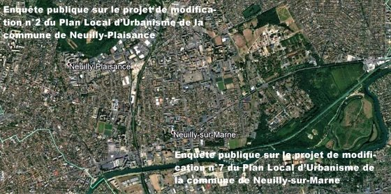 Modifications des PLU de Neuilly-Plaisance et Neuilly-sur-Marne.