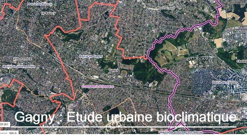 Restitution de l'étude urbaine bioclimatique de Gagny.